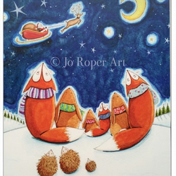 Here comes Santa Claus Christmas Card by Jo Roper