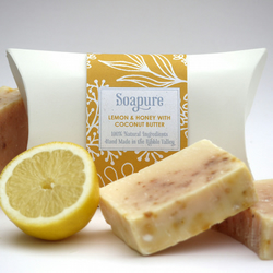 Lemon, Honey & Coconut Butter Natural Spa Soap 100g