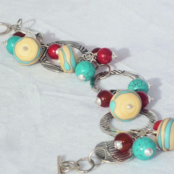 SALE £10 OFF Ocean Berries Fine Silver Bracelet