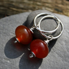 Juicy carnelian sterling silver earrings
