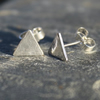 Tiny textured studs Triangles