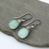 Silver Wrapped Amazonite Earrings