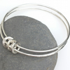 Silver ringed bangle , Family Bangle