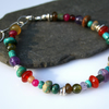 Juicy Gemstone and silver Bracelet