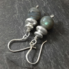 Labradorite and sterling silver earrings