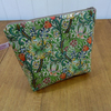 William Morris Golden Lily Print Large Cosmetic Bag