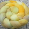 "SALE ""Orriah the Golden Queen"" MHE Shropshire Lambs wool Spinning Fibre 110g"