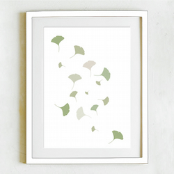 Falling Gingko - limited edition in soft greens