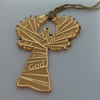 Etched gold acrylic angel - a good friend is a blessing from God
