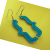 Curly Brackets Drop Earring