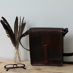 Messenger Bag. Made from high quality leather. HANDMADE IN ENGLAND.