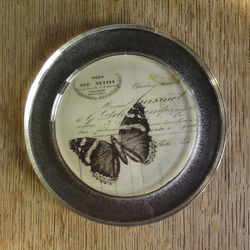 Butterfly coaster/ candle plate