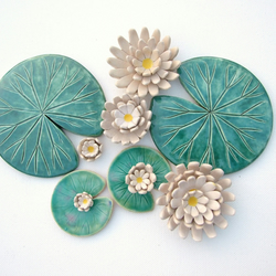 Lily pad coasters, table decoration