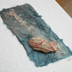 Seashore Art Card with Shell Fragment
