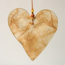 Natural Silk Paper Heart