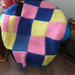 Crochet lap throw, Crochet blanket