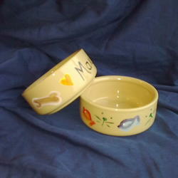 my hand painted Pet Food Bowl