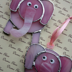 Pink Elephant Sun Catcher