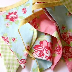 Bunting  - Cotton bunting 'Summer Rose'