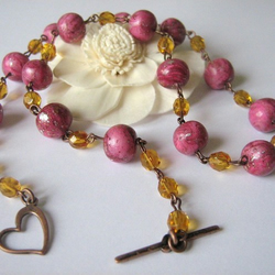 Fuchsia-topaz necklace