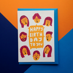 Happy Birthday Card - Illustrated greeting card