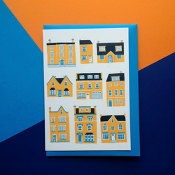 Little Houses Greetings Card - New Home card
