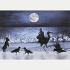 """Moonlight Ceilidh"" A5 Greetings Card with Envelope"
