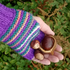 Stripy Fingerless Gloves