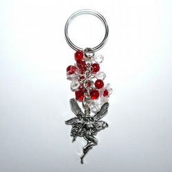 Magical Fairy with Red Accents Bagcharm Keyring