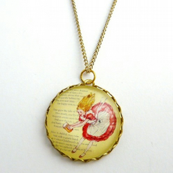 Alice In Wonderland Whimsical Necklace