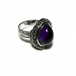 Darkly Romantic Victoriana Gothic Purple Ring
