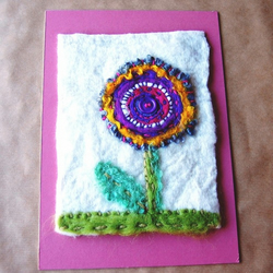 Daisy Lollipop Flower – Unframed