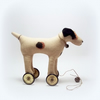 Little Jack Russell on vintage Meccano wheels