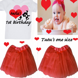 BIRTHDAY TUTU SETS  ANY NAME CAN BE ADDED