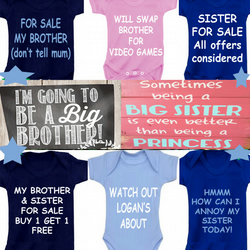 BODYSUIT BROTHER & SISTER DESIGNS  FOR YOUR BABY