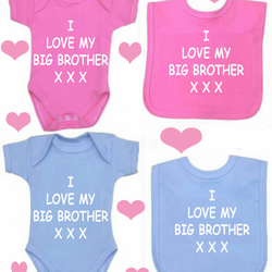 BODYSUIT I LOVE MY BIG BROTHER SET FOR YOUR BABY