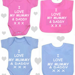 BODYSUIT I LOVE MY DADDY & MUMMY SET FOR YOUR BABY