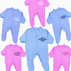 SLEEPSUIT BROTHER & SISTER DESIGNS  FOR YOUR BABY