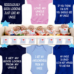 BODYSUIT UNCLE slogans  MESSAGE ME for a different FAMILY MEMBER