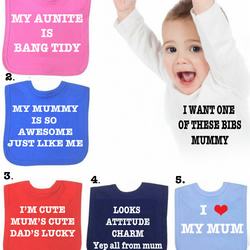 BIB mum bibs different sayings bib etc