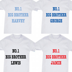 NO.1 BIG BROTHER  OR SISTER ETC ANY FAMILY MEMBER T-SHIRT