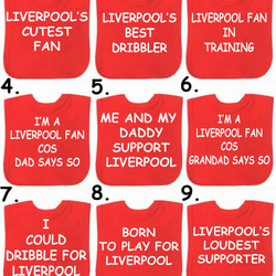 football bib   Liverpool Man Utd Arsenal any team in the world you choose