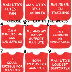 football bib Man Utd Chelsea  Liverpool Arsenal any team in the world you choose