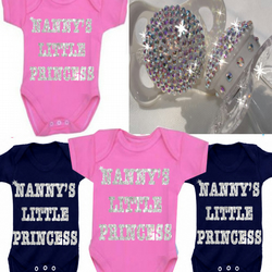 BODYSUIT SPARKLY NANNY'S LITTLE PRINCESS OR ANY FAMILY MEMBER