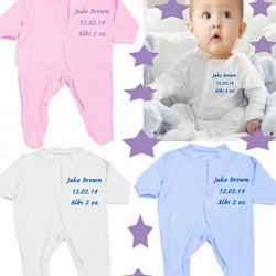 Babygrow DATE OF BIRTH NAME WEIGHT Please message all details