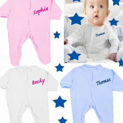 Babygrow any name at a slant
