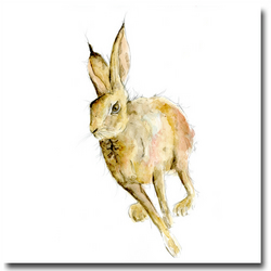 Hugo Hare Greeting Card - Father's Day, Blank Inside