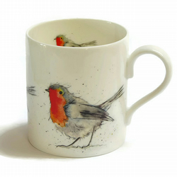 Robin Mug - Fine Bone China - Christmas Gift
