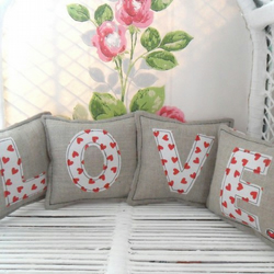 Appliquéd L.O.V.E Pillows