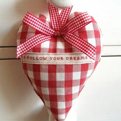 Laura Ashley Fabric *Follow Your Dreams* Lavender Heart